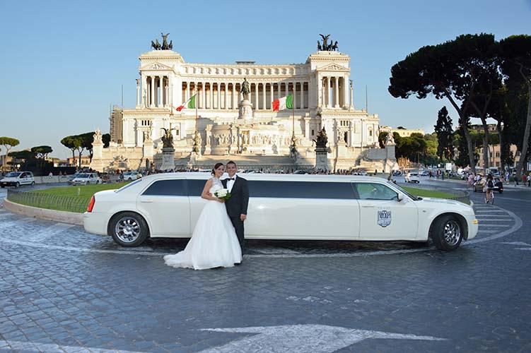 noleggio limousine matrimonio roma