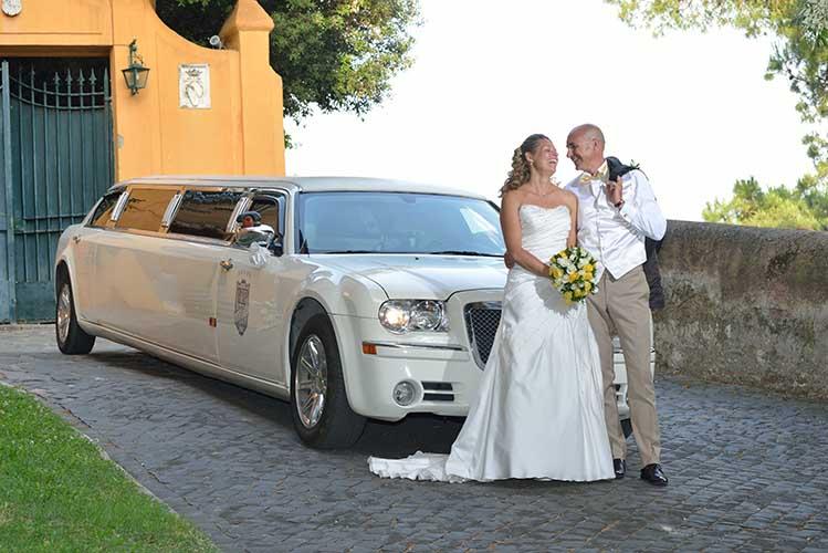 noleggio limousine roma matrimoni