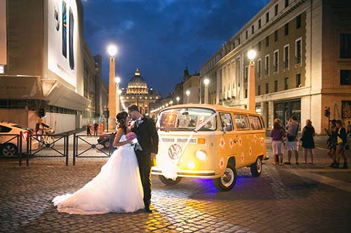 noleggio furgoncino volkswagen matrimonio
