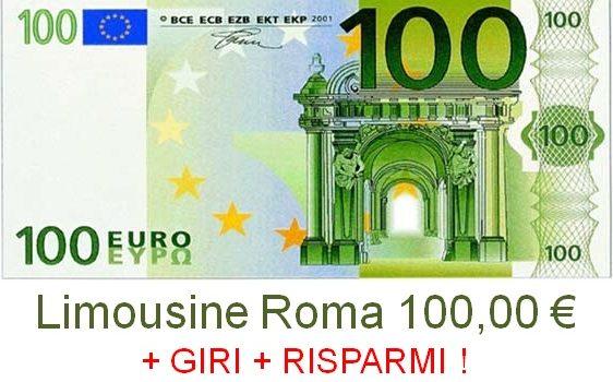 limousine roma 100 euro