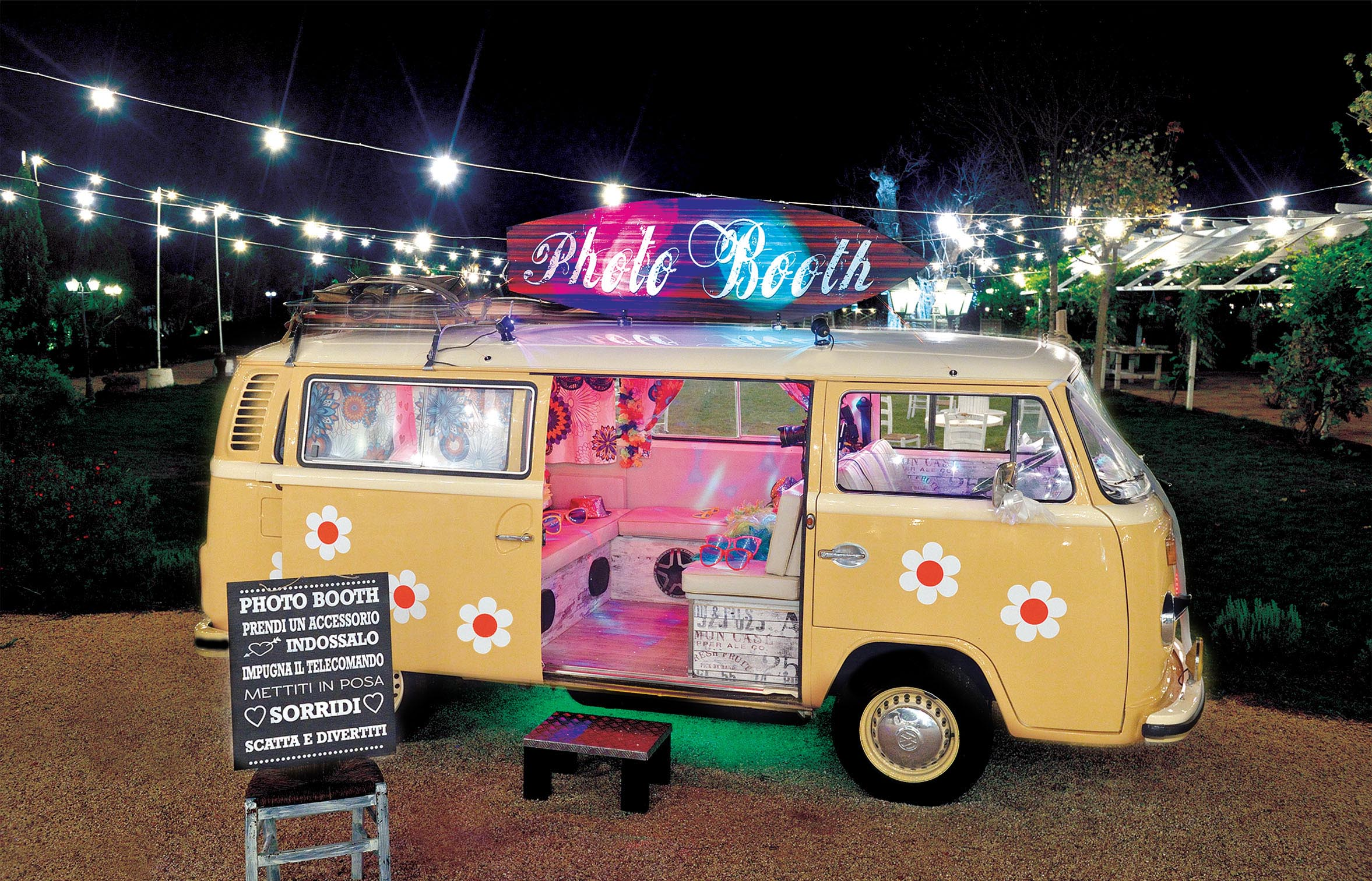 photo booth matrimonio pulmino Volkswagen